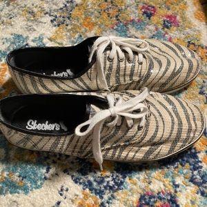 Skechers Women's Zebra Sneakers-Bedazzled